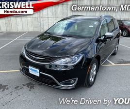 BLACK COLOR 2018 CHRYSLER PACIFICA HYBRID LIMITED FOR SALE IN GERMANTOWN, MD 20874. VIN IS
