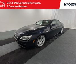 BLACK COLOR 2018 BMW 6 SERIES 640I XDRIVE GRAN COUPE FOR SALE IN WASHINGTON, DC 20001. VIN