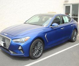 BLUE COLOR 2019 GENESIS G70 ADVANCED FOR SALE IN CHANTILLY, VA 20151. VIN IS KMTG34LA6KU03