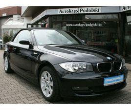 BMW 118I CABRIO | LEDER | AHK | S/W RÄDER | TÜV NEU|