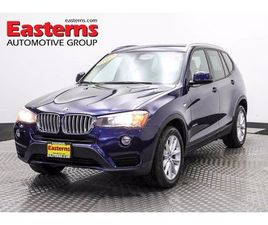BLUE COLOR 2017 BMW X3 XDRIVE28I FOR SALE IN ALEXANDRIA, VA 22304. VIN IS 5UXWX9C32H0W7942