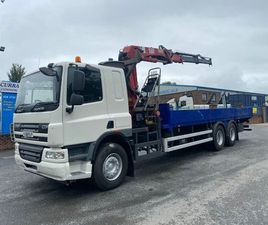 08 DAF CF 75 310 6X2 FLAT WITH CRANE FOR SALE IN ARMAGH FOR €1 ON DONEDEAL