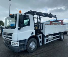 08 DAF CF 65 250 18TON FLAT REMOTE CRANE FOR SALE IN ARMAGH FOR €1 ON DONEDEAL