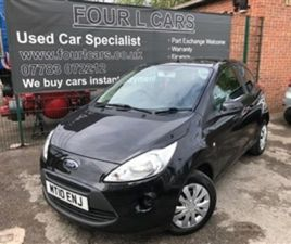 USED 2010 FORD KA EDGE 1.2 NOT SPECIFIED 49,795 MILES IN BLACK FOR SALE | CARSITE