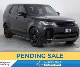 USED 2018 LAND ROVER DISCOVERY TD6 HSE AWD, DIESEL, TURBO, HEADS UP DISPLAY!