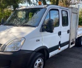 USED 2010 IVECO DAILY 50C15D DOUBLE CAB TIPPER 2.3 NOT SPECIFIED 92,657 MILES IN WHITE FOR