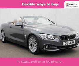 2015 BMW 4 SERIES 2.0 428I LUXURY CONVERTIBLE 2D AUTO - £20,000