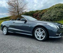 2012 MERCEDES-BENZ E220 CDI SPORT COVERTIBLE LOW MILEAGE 7SPEED AUTOMATIC