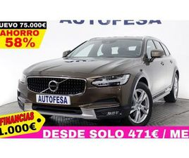 VOLVO V90 CROSS COUNTRY 2.0 D4 4WD AUTO 190CV S/S # IVA DEDUCIBLE, NAVY, CUERO, BARRAS FAM