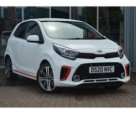 USED 2020 KIA PICANTO 1.0T GDI GT-LINE 5DR HATCHBACK 1,369 MILES IN WHITE FOR SALE | CARSI