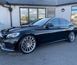 USED 2019 MERCEDES-BENZ C CLASS 220 AMG LINE D AUTO SALOON 34,000 MILES IN BLACK FOR SALE