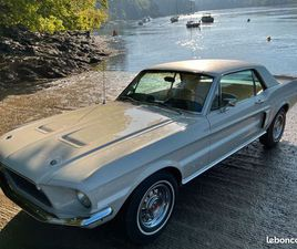FORD MUSTANG GT/CALIFORNIA SPECIAL 1968 V8 289CI BOITE AUTOMATIQUE VISIBLE EN FRANCE