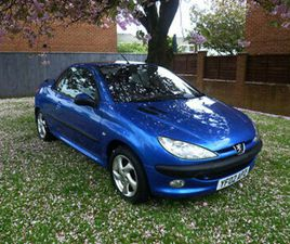 PEUGEOT 206 CC CONVERTIBLE 1.6 ALLURE WITH LEATHER *ONLY 78,000 MILE* LOVELY CAR