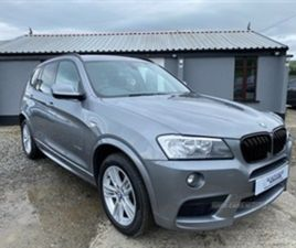 USED 2013 BMW X3 XDRIVE20D M SPORT AUTO NOT SPECIFIED 82,000 MILES IN GREY FOR SALE   CARS