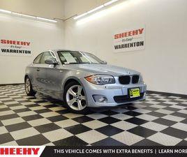 BLUE COLOR 2013 BMW 1 SERIES 128I FOR SALE IN WARRENTON, VA 20187. VIN IS WBAUP7C51DVP2479