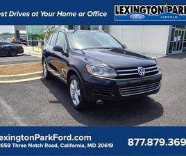 WHITE COLOR 2012 VOLKSWAGEN TOUAREG FOR SALE IN CALIFORNIA, MD 20619. VIN IS WVGFK9BPXCD00