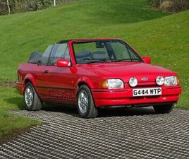 1990 FORD ESCORT XR3I CABRIOLET - AN ORIGINAL CAR IN EXCELLENT CONDITION