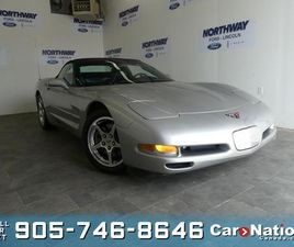 USED 2004 CHEVROLET CORVETTE CONVERTIBLE  LEATHER  CHROME RIMS  WOW ONLY 19 KM