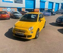 STUNNING FIAT 500S,ABARTH YELLOW,LOW MILES,FSH,AMAZING INTERIOR COLOURS ,1.2LTR