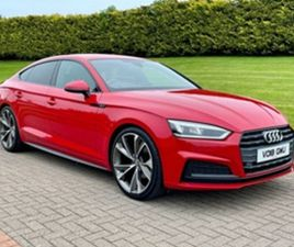 USED 2018 AUDI A5 2.0 SPORTBACK TDI S LINE 5D 148 BHP HATCHBACK 101,000 MILES IN RED FOR S