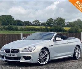USED 2014 BMW 6 SERIES M SPORT CONVERTIBLE 43,000 MILES IN INDIVIDUAL MOONSTONE METALLIC F