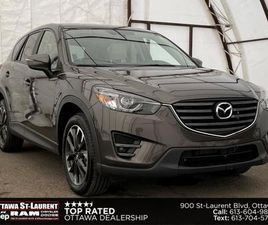 USED 2016 MAZDA CX-5 GT TWO TONE WHITE LEATHER SEATING, SUNROOF, NAVIGATION