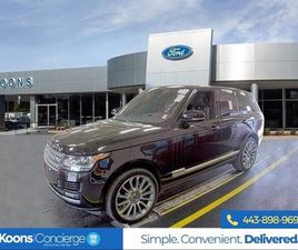 BLACK COLOR 2016 LAND ROVER RANGE ROVER SUPERCHARGED FOR SALE IN BALTIMORE, MD 21244. VIN