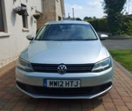 USED 2012 VOLKSWAGEN JETTA SE BLUEMOTION TECH SALOON 82,000 MILES IN SILVER FOR SALE   CAR