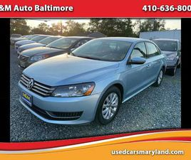 BLUE COLOR 2012 VOLKSWAGEN PASSAT S W/APPEARANCE FOR SALE IN BALTIMORE, MD 21225. VIN IS 1