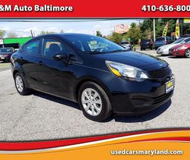 BLACK COLOR 2015 KIA RIO LX FOR SALE IN BALTIMORE, MD 21225. VIN IS KNADM4A39F6461190. MIL
