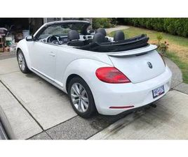 2015 VOLKSWAGEN VW BEETLE CONVERTIBLE TURBO WHITE EXCELLENT CONDITION