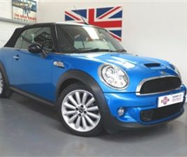 USED 2010 MINI HATCH CONVERTIBLE 41,000 MILES IN BLUE FOR SALE | CARSITE