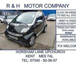 2002 SMART FORTWO 0.6 CITY PASSION CABRIOLET 2DR CONVERTIBLE PETROL AUTOMATIC