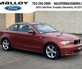 RED COLOR 2008 BMW 1 SERIES 128I FOR SALE IN ALEXANDRIA, VA 22312. VIN IS WBAUP73588VF0823