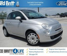 GRAY COLOR 2012 FIAT 500 POP FOR SALE IN FAIRFAX, VA 22030. VIN IS 3C3CFFDR1CT119646. MILE