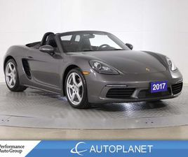 USED 2017 PORSCHE BOXSTER 718 CONVERTIBLE, NAVI, COOLED SEATS, SPORTS MODE!