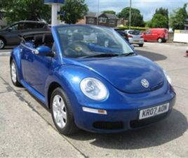 USED 2007 VOLKSWAGEN BEETLE 1.4 LUNA 16V 2D 74 BHP CONVERTIBLE 74,000 MILES IN BLUE FOR SA