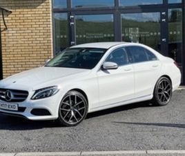 USED 2017 MERCEDES-BENZ C CLASS 220 SPORT D AUTO SALOON 96,667 MILES IN WHITE FOR SALE | C