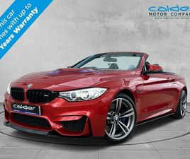 2016 BMW 4 SERIES 3.0 M4 (431BHP) (S/S) CONVERTIBLE - £32,995