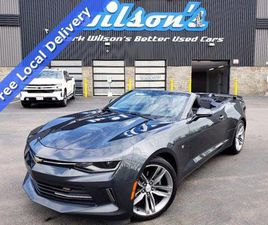 USED 2017 CHEVROLET CAMARO 2LT V6, CONVERTIBLE, RS PACKAGE, LEATHER, HEATED SEATS, 20'' WH