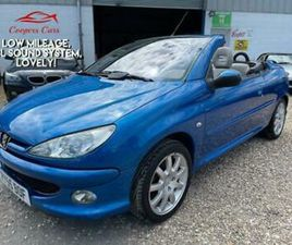 PEUGEOT 206 1.6 16V 2005 COUPE CABRIOLET ALLURE 34'000 MILES, 1 PREVIOUS OWNER!
