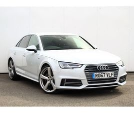 USED 2017 AUDI A4 3.0 TDI QUATTRO S LINE 4DR S TRONIC SALOON 48,180 MILES IN WHITE FOR SAL