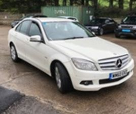USED 2011 MERCEDES-BENZ C CLASS BLUE-CY EXEC SE CDI SALOON 129,000 MILES IN WHITE FOR SALE