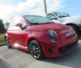 RED COLOR 2013 FIAT 500 ABARTH FOR SALE IN FORT MYERS, FL 33907. VIN IS 3C3CFFFH4DT569958.