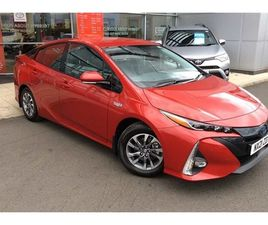 USED 2021 TOYOTA PRIUS 1.8 PHEV EXCEL 5DR CVT HATCHBACK 1,012 MILES IN RED FOR SALE   CARS