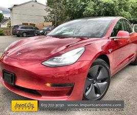 USED 2020 TESLA MODEL 3 STANDARD RANGE ENHANCED AUTO PILOT ($4500) & RED (