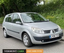USED 2006 RENAULT MEGANE SL OASIS VVT 111 GSCENIC MPV 84,440 MILES IN SILVER FOR SALE | CA