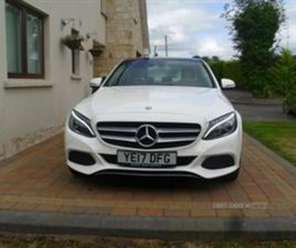 USED 2017 MERCEDES-BENZ C CLASS D SPORT PREMIUM AUTO SALOON 28,000 MILES IN WHITE FOR SALE