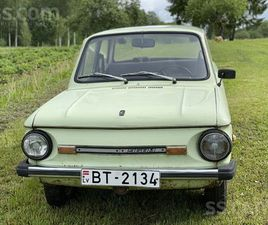 SLUDINĀJUMI. VIEGLIE AUTO - ZAZ - 968, FOTO. CENA 1 300 €. LABĀ BRAUCOŠĀ STĀVOKLĪ, ORIĢINĀ