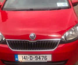 SKODA CITIGO HATCHBACK PETROL RED 2014 LOW MILEAGE FOR SALE IN LOUTH FOR €5,950 ON DONEDEA